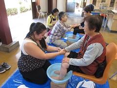 茨城県常総市での足湯ボランティア